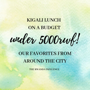 kigali lunch